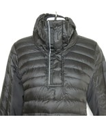 Lululemon Down For a Run Small Goose Down Pullover Jacket Black Puffer - $152.42