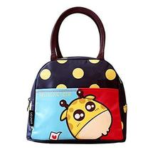 PANDA SUPERSTORE Lovely Cartoon Fawn Bento Bag Lunch Tote Bag Waterproof Lunch B