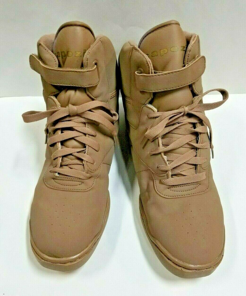 Primary image for Capezio DS04A Women's Size 13M (Fits 12.5) Tan High Top Dance Sneakers