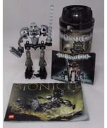 Lego Bionicle Toa Nuva Onua Nuva (8566), with manual and canister - $12.86