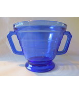 Depression Glass Moderntone Cobalt Sugar Bowl - Hazel Atlas, 1930s - €8,22 EUR