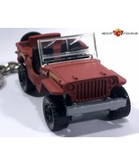 RARE KEY CHAIN TARMAC FOLLOW ME AIRPORT RED CAMO JEEP WILLYS/FORD MB/GPW... - $32.95