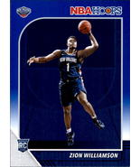 Zion Williamson 2019-20 Panini NBA Hoops Blue Parallel Rookie Card #258 - $75.00