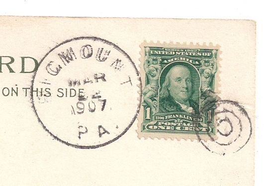 DPO PA 1907 Bigmount York County Cover Helbock Scarcity 5 UND Easter Postcard