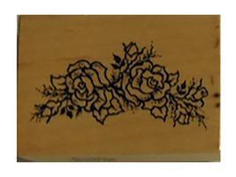 Vintage PSX 1994 Roses Rubber Stamp #D-1330