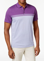 New Mens Alfani Regular Fit Colorblocked Majesty Purple Polo Shirt S - $12.99