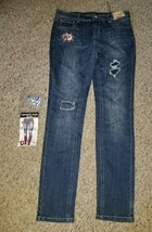 NWT Do It Yourself Decorated IMPERIAL STAR Skinny Jeans Girls Size 16 - $5.63