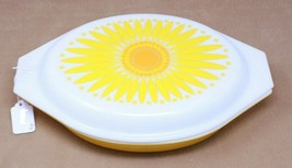 Pyrex Sunflower 1 1/2 Quart Divided Casserole Dish With Lid - $22.00