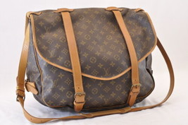 LOUIS VUITTON Monogram Saumur 43 Shoulder Bag M42252 LV Auth 6088 - $480.00