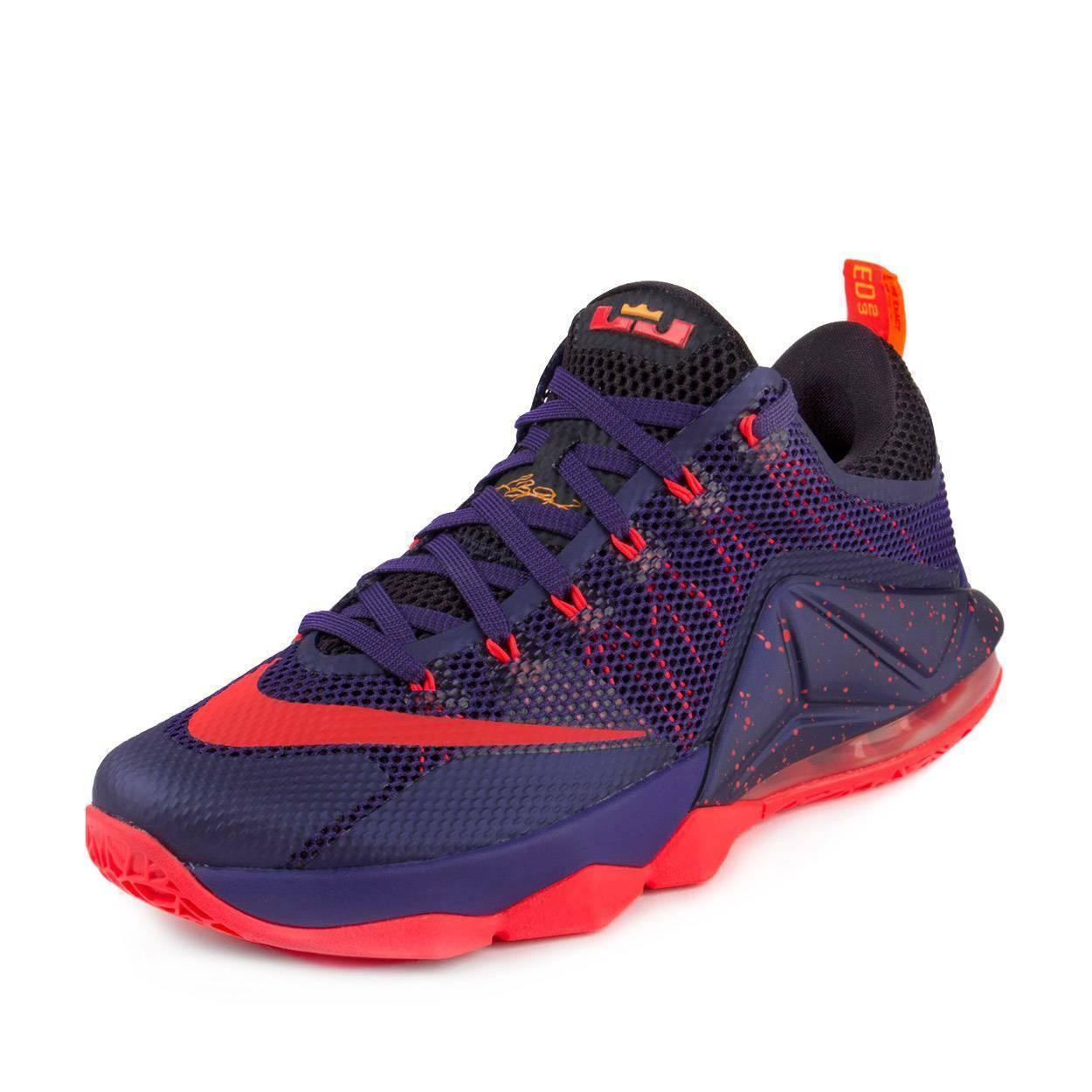 Nike Lebron XII Low Raptors Court Purple Bright Crimson 724557-565 Mens 9 image 4