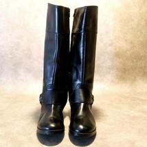 Lauren by Ralph Lauren Womens Sulita 1942 Sz 6.5 B Black Leather Riding Boots - $39.99