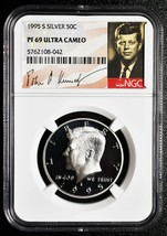 1995 S SILVER KENNEDY HALF DOLLAR COIN 50¢ NGC PF69 ULTRA CAMEO SKU# C84