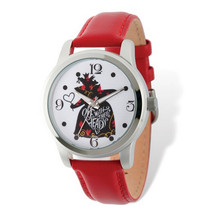 Disney Adult Size Off With Their Heads Red Band Watch - $47.00
