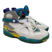 Nike Air Jordan Retro 8 White Aqua Women's Size 11 Shoes 316836-161  - $197.99