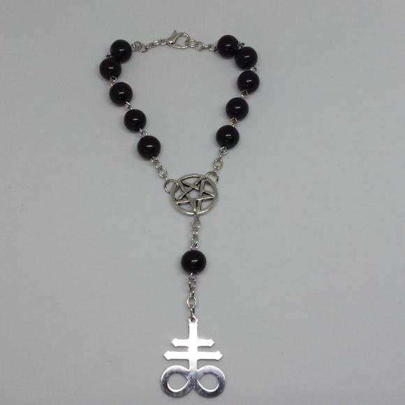 Leviathan Cross Rosary Bracelet