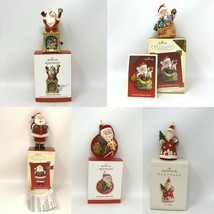 Lot Of 5: Hallmark Keepsake Santa Christmas Xmas Tree Ornament 2002 2005... - $18.99