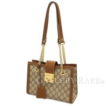 GUCCI Shoulder Bag Small GG Supreme Canvas Beige 498156 Italy Authentic ... - $1,396.73