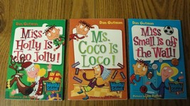 Lot of 4 Dan Gutman Chapter Books Including Christmas Edition Miss Holly... - $3.22