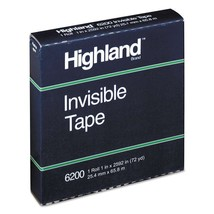 "Highland Invisible Tape, 1"" x 2592"", (72 YD) - $6.80"