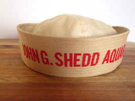 Vintage John G Shedd Aquarium Sailor Hat Chicago Souvenir Cotton Childs ... - $74.24