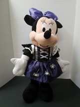 "Disney Minnie Mouse Purple Witch Costume Halloween Plush Doll Stands 24""... - $21.29"