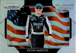 Kevin Harvick 2019 Panini Prizm Silver Parallel Stars & Stripes Card #SS-1 - $2.00