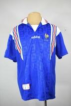 vintage Adidas France jersey XL euro 96 90's home shirt football soccer - £53.48 GBP