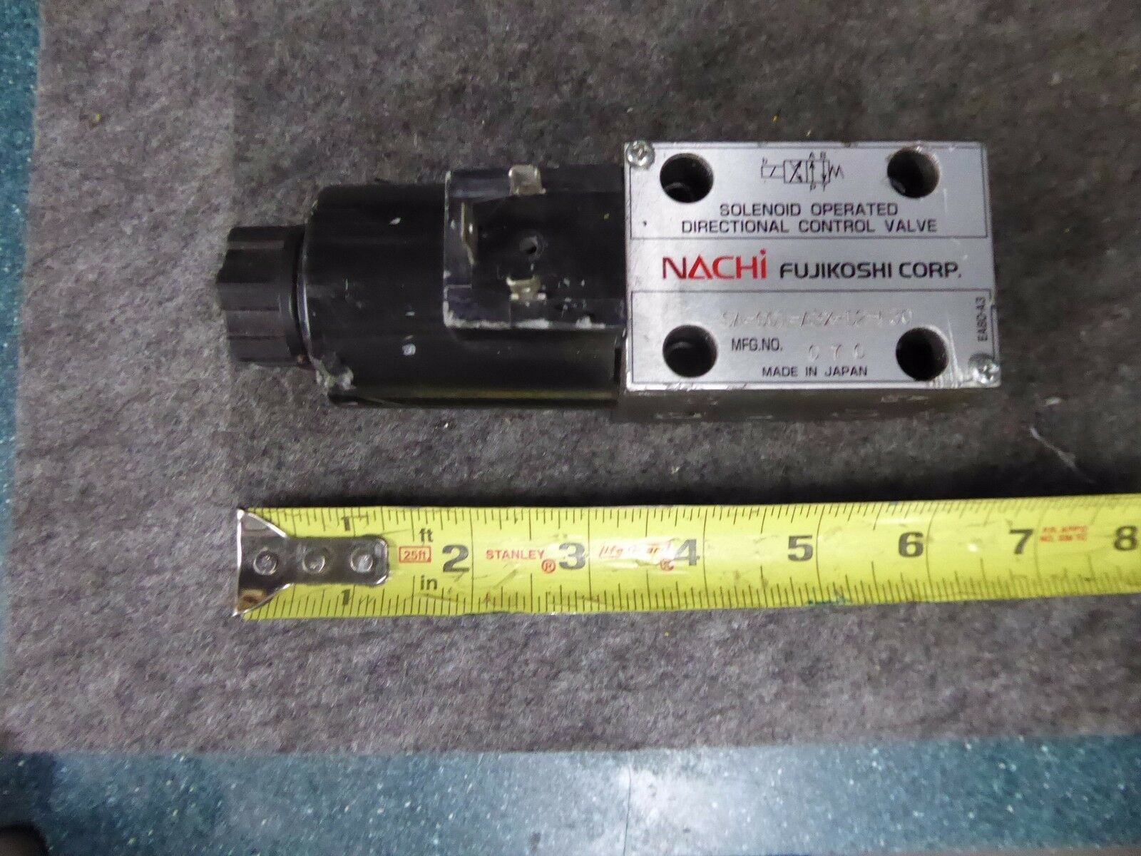 Nachi SA-G01-A3X-D2-E30 Solenoid Operated Directional Control Valve