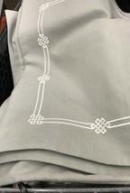 Pottery Barn Emilia Pillow Cover Gray 20 sq Embroidered Accent Sofa  - $47.54