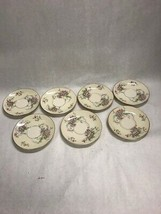 7 Saucers Only No Cups 6 Inch Vintage Theodore Haviland Apple Blossom China - $19.10