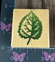 Rubber Stampede Aspen Leaf Rubber Stamp Tree Plant Shaded #J108 - $2.96
