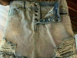 Little Lies Denim Distressed Women's Size 12 Skirt - $18.80