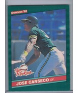 JOSE CANSECO 1986 Donruss Rookies E4500 - $1.35
