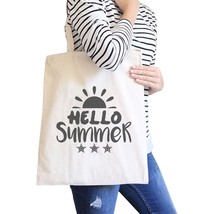Hello Summer Sun Natural Canvas Bags - $15.99