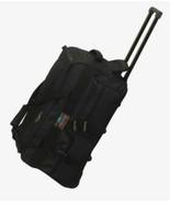 """25"""" Rolling Wheeled Duffel Bag Luggage 5785 Black  Wheels Duffelbag New - $41.57"""