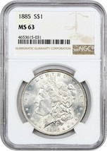 1885 $1 NGC MS63 - Morgan Silver Dollar - $72.75