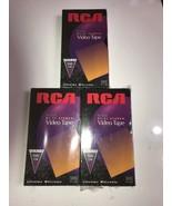 RCA T-120 VHS VCR LOT 3 PK Video Cassette Tape NEW  - $12.19