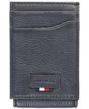 Tommy Hilfiger Men's Leather Wide Magnetic Front Pocket Credit Card Rfid Wallet