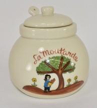 Vintage La Moutarde Condiment Jar with Spoon from Gallery Originals  1984 - $11.87
