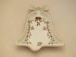 MIKASA FINE PORCELAIN HOLIDAY ELEGANCE BELL SHAPED DISH - $12.99