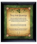 Irish Blessing Wall Plaque Lucky Coin Bar Decoration Home Decor Wood Fra... - $39.55