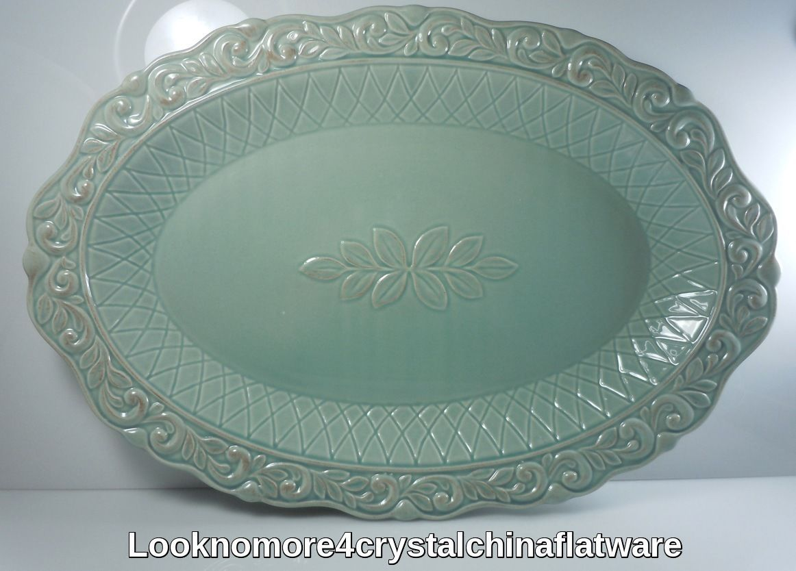 JCPenney Isabella Blue Oval Serving Platter & JCPenney Isabella Blue Oval Serving Platter and 50 similar items