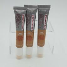Lot of 3 Rimmel Lasting Finish Breathable Concealer, Medium Dark, 400 - $12.86