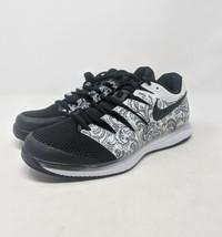 Nike Air Zoom Vapor X Tennis Shoes White Black Paisley Floral AA8027-103... - £88.68 GBP