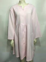 Miss Elaine Petites Womens PL Soft Pink Quilted Robe Knee-Length Empire ... - $37.73