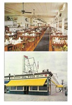 Simms Sea Food Restaurant Ocean City NJ Boardwalk Dual View Vintage Post... - $4.99