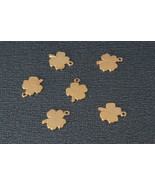 Sterling Silver 925(24K-gold plating) four Leaf Clover Charms Bead, Pend... - $3.20
