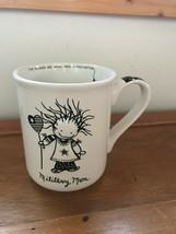 Enesco Children of the Inner Light Black & White MILITARY MOM Large Coffee Mug C - $12.19