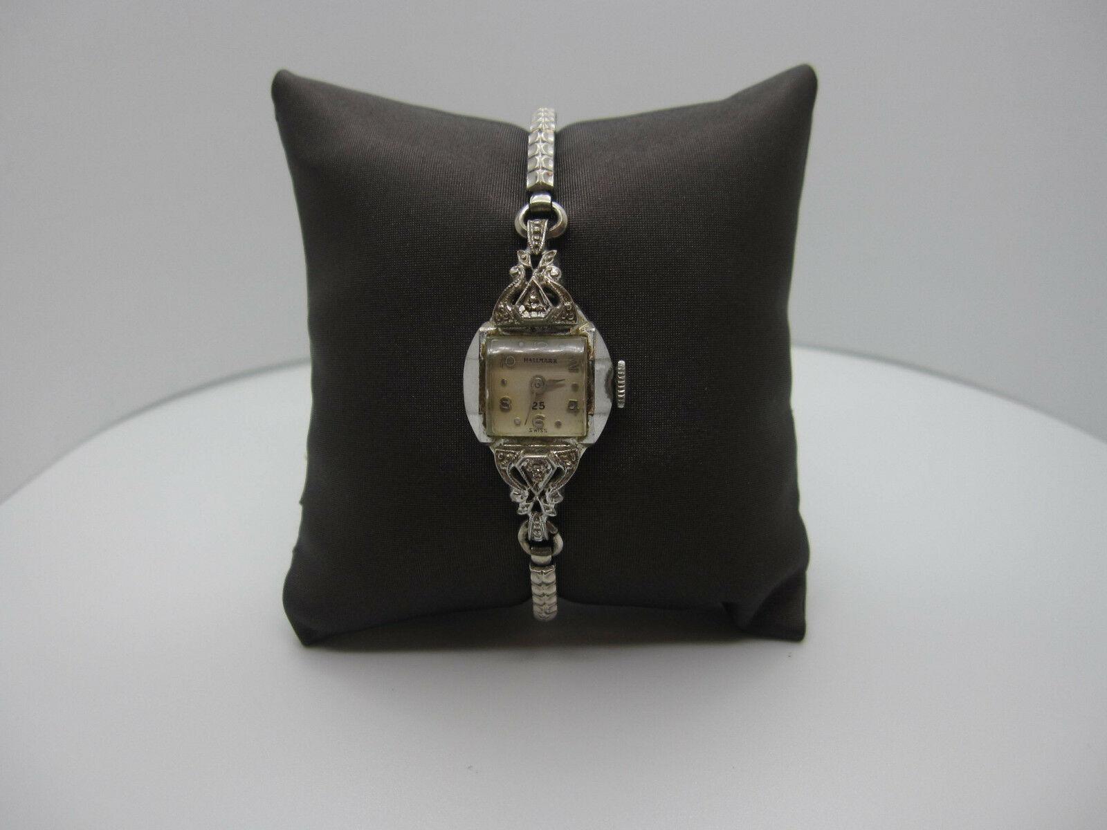 Vintage Women's Hallmark 25 Jewels 10k Rolled Gold Plated Hand Wind Watch