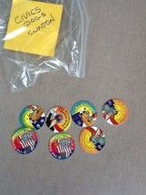 Civic government themed pogs with Clinton - $5.00